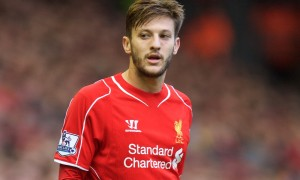 LIVERPOOL, ENGLAND - Saturday, October 25, 2014: Liverpool's Adam Lallana in action against Hull City during the Premier League match at Anfield. (Pic by David Rawcliffe/Propaganda)